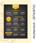 cafe menu restaurant brochure.... | Shutterstock .eps vector #287628761