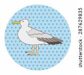 bird cartoon theme elements... | Shutterstock .eps vector #287629835