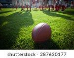 american football on stadium... | Shutterstock . vector #287630177
