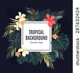 summer tropical hawaiian... | Shutterstock .eps vector #287632424