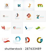set of new universal company... | Shutterstock . vector #287633489