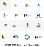 set of new universal company... | Shutterstock . vector #287633501