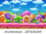 seamless cartoon fairy tale... | Shutterstock .eps vector #287636204