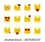 set beauty valentine square...   Shutterstock .eps vector #287640107