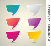 color vector paper speech... | Shutterstock .eps vector #287656619