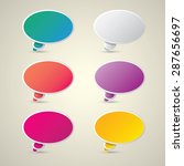 color vector paper speech... | Shutterstock .eps vector #287656697