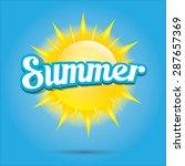 beautiful summer illustrations .... | Shutterstock .eps vector #287657369