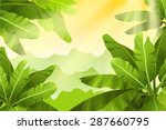 tropical jungle.   Shutterstock .eps vector #287660795