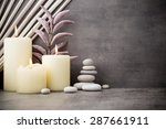 stones spa treatment scene  zen ... | Shutterstock . vector #287661911
