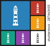 lighthouse icon | Shutterstock .eps vector #287663435