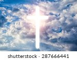 a transparent cross giving out... | Shutterstock . vector #287666441