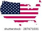 united states flag | Shutterstock .eps vector #287671031