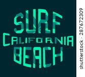 surf illustration typography | Shutterstock . vector #287672309