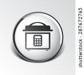 multicooker monochrome icon ... | Shutterstock .eps vector #287672765