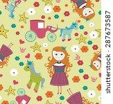 seamless little girl princes...   Shutterstock .eps vector #287673587
