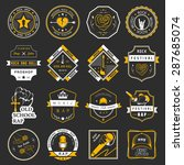 set of vector badges and logos... | Shutterstock .eps vector #287685074