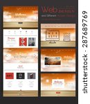 elegant one page website design ...