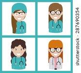 medical care design over white... | Shutterstock .eps vector #287690354