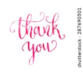 watercolor thank you hand... | Shutterstock .eps vector #287690501