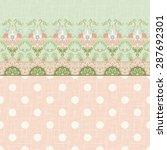 vector background with borders. ... | Shutterstock .eps vector #287692301