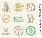 vector craft beer and brewery... | Shutterstock .eps vector #287693699