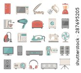 flat icons   home appliance | Shutterstock .eps vector #287695205