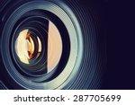 camera lens. retro stale. | Shutterstock . vector #287705699
