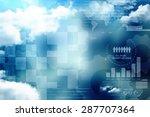 2d business graph background | Shutterstock . vector #287707364