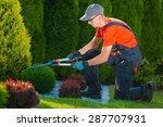 professional gardener at work.... | Shutterstock . vector #287707931
