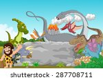 collection dinosaur with... | Shutterstock .eps vector #287708711