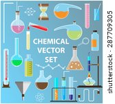 set of laboratory flasks.... | Shutterstock . vector #287709305