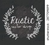 rustic design over black grunge ... | Shutterstock .eps vector #287709899