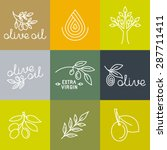 vector olive oil icons and logo ... | Shutterstock .eps vector #287711411