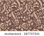 seamless floral vintage pattern.... | Shutterstock .eps vector #287737331