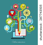modern vector illustration... | Shutterstock .eps vector #287743505