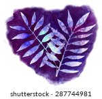 two branches  watercolor salt ...   Shutterstock . vector #287744981