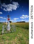 a cross beside corn field ... | Shutterstock . vector #28775026