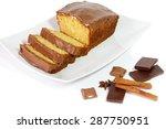 Cake With Glaze Of Chocolate...