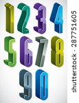 3d extra tall numbers set in... | Shutterstock .eps vector #287751605