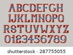 vintage american font eps 8  | Shutterstock .eps vector #287755055