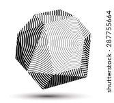 geometric monochrome polygonal... | Shutterstock .eps vector #287755664