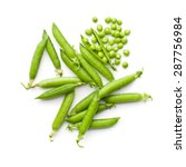 fresh green peas on white... | Shutterstock . vector #287756984