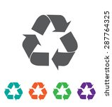 vector recycle symbol. recycle... | Shutterstock .eps vector #287764325
