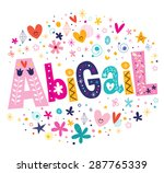 Abigail Girls Name Decorative...