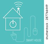 smart home sign icon. smart...