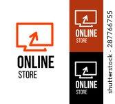 online shop vector logo. for...   Shutterstock .eps vector #287766755