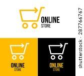 online shop vector logo for... | Shutterstock .eps vector #287766767