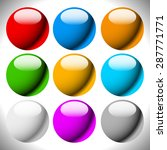 empty circle button backgrounds ... | Shutterstock .eps vector #287771771