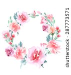 Floral Frame.  A Wreath Of...