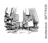 city hand drawn  vector... | Shutterstock .eps vector #287779235